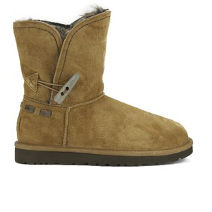 UGG Women's Meadow Fold Over Sheepskin Boots - Chestnut