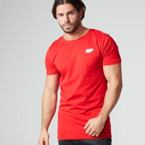 Myprotein Herren Longline kurzärmliges T-Shirt, Rot
