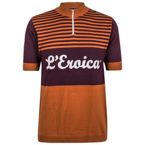 Santini L'Eroica Gaiole 2015 Event Series Short Sleeve Jersey - Dark Red