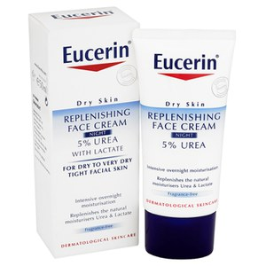 Eucerin® Dry Skin Replenishing Face Cream Night 5% Urea with Lactate (50ml)