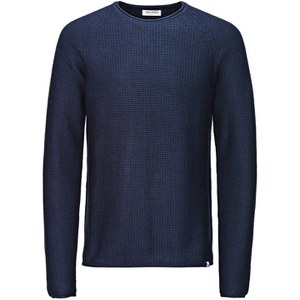 Jack & Jones Men's Originals Paul Knitted Crew Neck Jumper - Navy