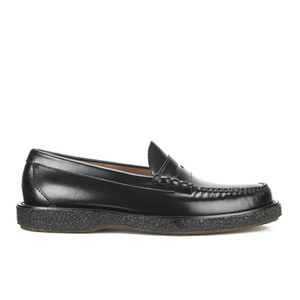 Bass Weejuns Men's Crepe Larson Leather Moc Penny Loafers - Black