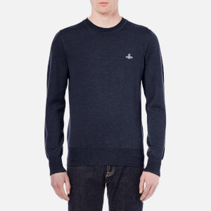 Vivienne Westwood MAN Men's Classic Roundneck Knitted Jumper - Navy