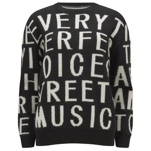 Each X Other Women's Robert Montgomery Poem Jacquard Sweater - Black/White