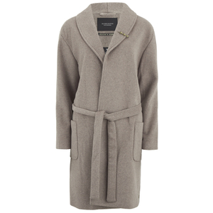 Maison Scotch Women's Wrapover Wool Coat - Brown