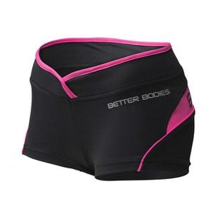 Better Bodies Women's Shaped Hot Pants - Black/Pink