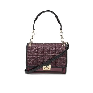 Karl Lagerfeld Women's K/Kuilted Tweed Handbag - Bordeaux