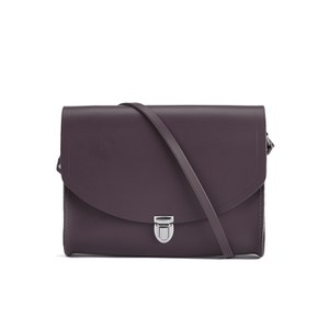 The Cambridge Satchel Company Women's Large Push Lock Crossbody Bag - Port
