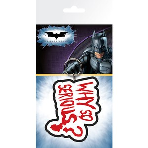 DC Comics Batman The Dark Knight Joker Why So Serious - Keyring