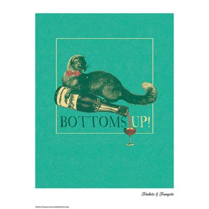 Trinkets and Trumpets Bottoms Up Print