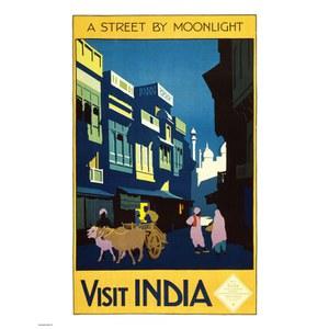 Vintage Travel India Print
