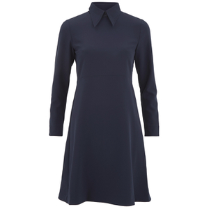 Wood Wood Women's Anita High Neck Dress - Dark Navy