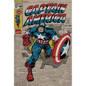 Marvel Comics Captain America Retro - 24 x 36 Inches Maxi Poster