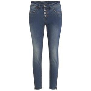 nümph Womens Florida Zip Jeans - Blue