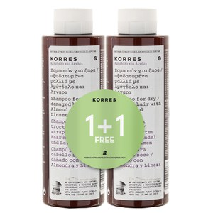 Korres Almond and Linseed Shampoo 1 + 1
