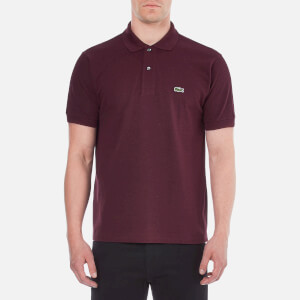 Lacoste Men's Short Sleeve Polo Shirt - Bilberry Bush Chine