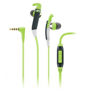 Sennheiser CX 686G Sports Earphones Inc In-Line Remote & Mic - Green/Grey