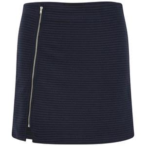 MINKPINK Women's Take Care Rib Skirt - Navy