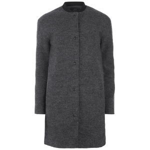 ONLY Womens Barbara Wool Coat - Dark Grey Melange