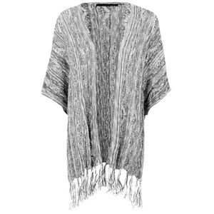 ONLY Women's Susan Knitted Poncho - Black