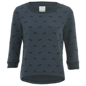 ONLY Women's Sublime Minibow Check Sweatshirt - Peacoat