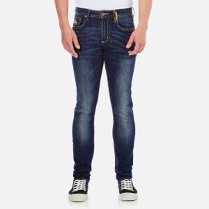Superdry Men's Corporal Slim Denim Denim Jeans - Brighton Blue