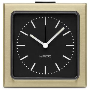 LEFF Amsterdam Block Alarm Clock - Brass