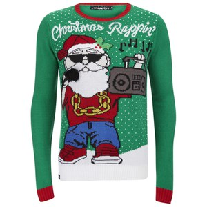Conspiracy Men's Rappin' Christmas Jumper - Green