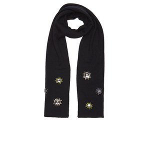 Markus Lupfer Women's Jewel Flower Scarf - Black