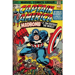 Marvel Retro Captain America Madbomb - 24 x 36 Inches Maxi Poster