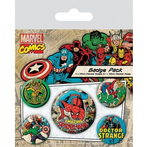 Marvel Retro Spider-Man - Badge Pack