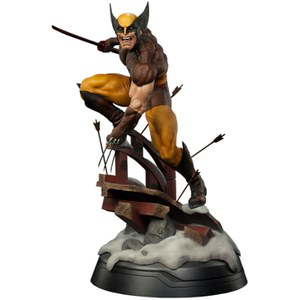Sideshow Collectibles X-Men Wolverine Brown Costume Premium Format Statue