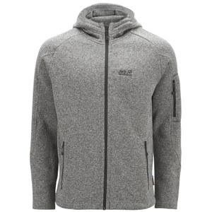 Jack Wolfskin Men's Caribou Lodge Fleece Jacket - Light Grey