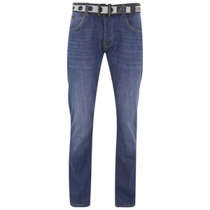 Crosshatch Men's Valerian Jeans - Stone Wash
