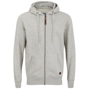 Smith & Jones Men's Kent Zip Through Hoody - Grey Marl