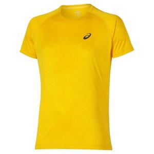 Asics Men's FujiTrail Graphic Running T-Shirt - Spectra Yellow Map