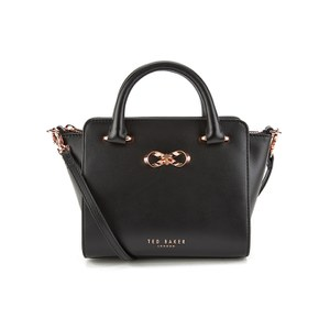 Ted Baker Women's Minibow Loop Bow Mini Leather Tote Bag - Black
