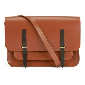 The Cambridge Satchel Company Men's Bridge Closure Bag - Russet with Dark Brown