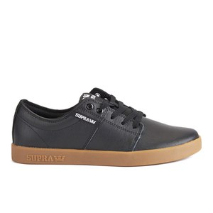 Supra Men's Stacks II PU Low Top Trainers - Black/Gum