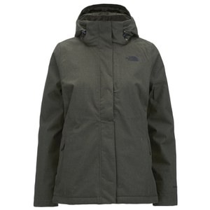 The North Face Women's Inlux Insulated Hooded Jacket - Taupe Green