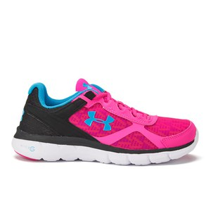 Under Armour Women's Micro G Velocity RN Running Shoes - Rebel Pink/Black