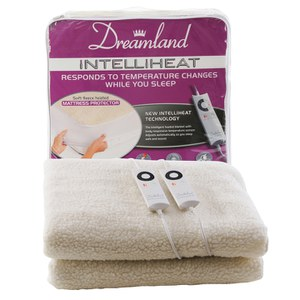 Dreamland 6968 Intelliheat Premium Soft Fleece Dual Control Electric Under Blanket - Double
