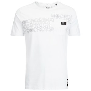 Crosshatch Men's Contour Print T-Shirt - White