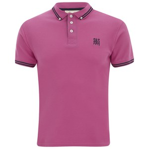 Soul Star Men's Ralling Polo Shirt - Pink