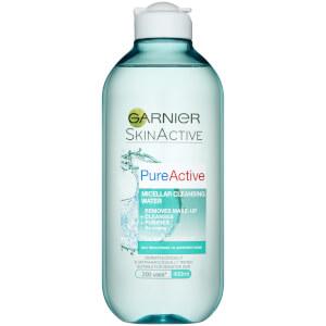 Garnier Pure Active Micellar Water facial cleanser Oily Skin 400ml