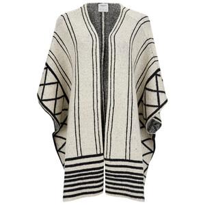 Vero Moda Women's Hvamm Knitted Cape - Antique White