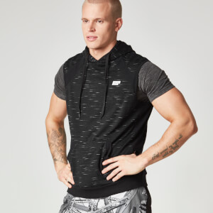 Myprotein Men's Slouch Sleeveless Hoodie - Black