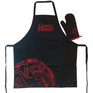 Game of Thrones Targaryen Apron with Oven Mitt