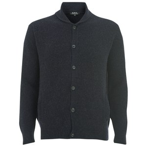 A.P.C. Men's Waves Cardigan - Dark Navy