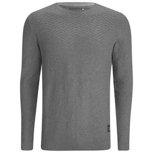 Jack & Jones Men's Jet Knitted Jumper - Grey Melange